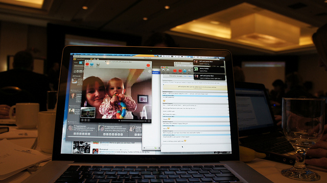 Jamie and Lexie Weir Skyped in by Andy